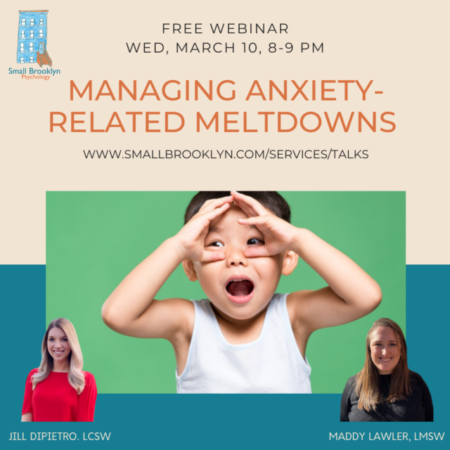 2021-Mar-10 Managing Anxiety-Related Meltdowns with Jill DiPietro, LCSW and Maddy Lawler, LMSW